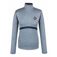 FairPlay Thelma Teknisk Bluse m. Fleecefor - Navy Melange